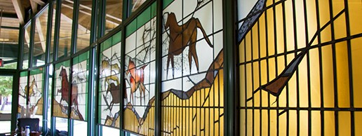 LAH Horses Stained Glass Windows